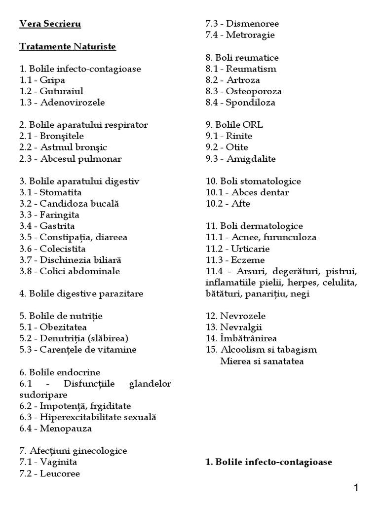 produse derivate din paraziți ai corpului uman