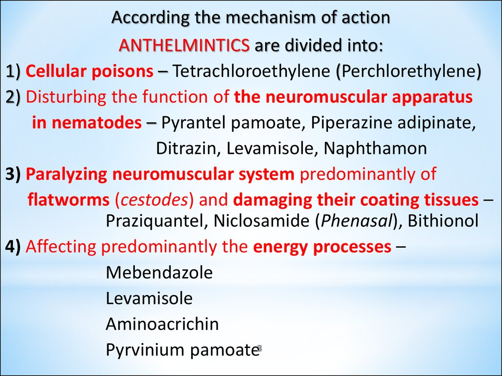 anthelmintic activity ppt
