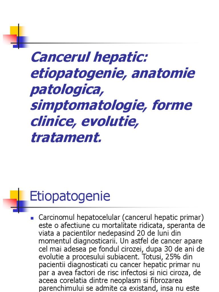 cancer hepatic durata de viata