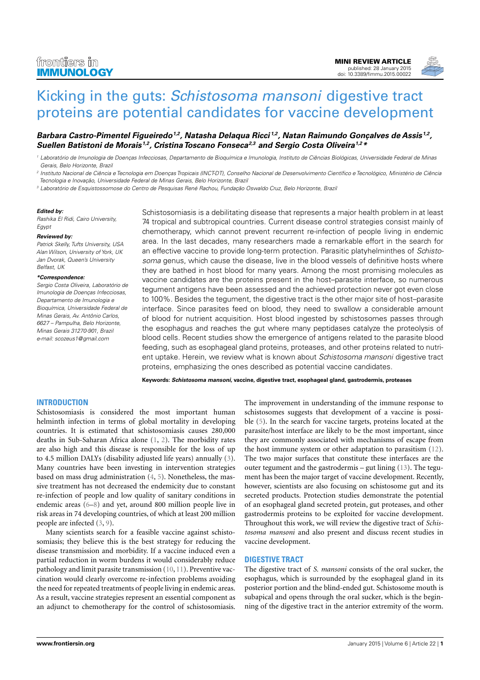 schistosomiasis vaccine development după coagulare cu negi genitale
